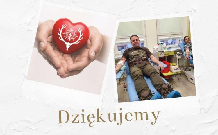 Myśliwi oddali 124 litry krwi dla potrzebujących.